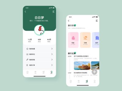 旅行App界面