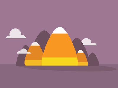 Candy Corn Mountains