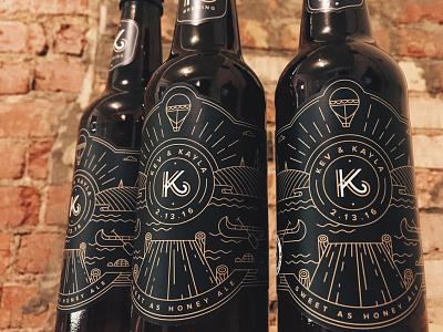 K2 Labels spokane branding illustration craft beer packaging label bottle beer