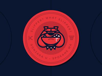 Gonzaga Stickers sports spokane gonzaga march madness ncaa branding illustration college badge sticker basketball