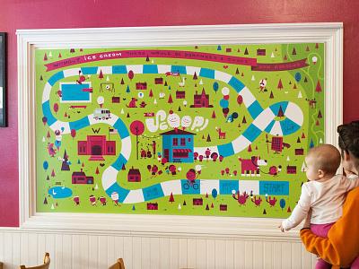 The Scoop Mural spokane animals kids children ice cream print characters design illustration mural