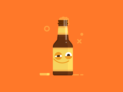 Happy Hour illustration message emoji vector flat sticker character beer a
