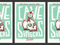 Cave Singers Gig Poster