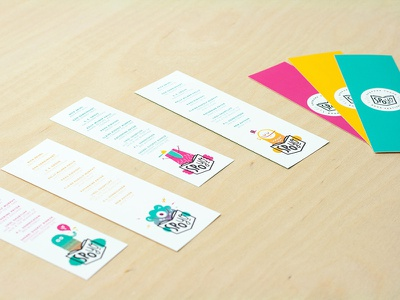 SpoYo Bookmarks pnw spokane festival children colors characters collateral branding bookmarks illustration