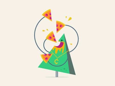 RIP - Pizza Guy shape simple fun vector pizza character illustration