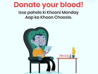 blood donation post