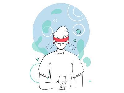 Onboarding for Neurovine mobile app onboarding design ui digitalart sketch digital illustration illustration