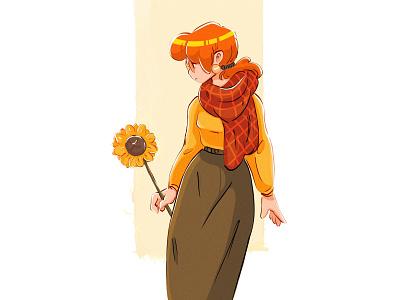 Autumn colors design procreate color drawing digitalart character sketch digital illustration illustration