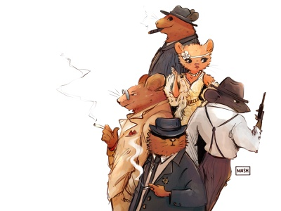 The Mafia drawing concept design procreate digitalart character digital illustration sketch illustration