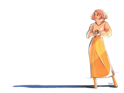 Girl concept drawing design procreate character digitalart digital illustration sketch illustration
