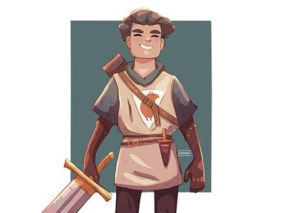 Knight drawing concept procreate character digitalart digital illustration sketch illustration