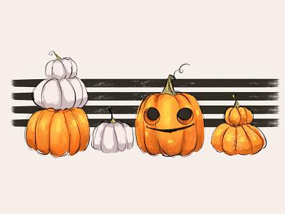 Pumpkin pumpkin autumn sketching character иллюстрация digital illustration digitalart drawing sketch illustration