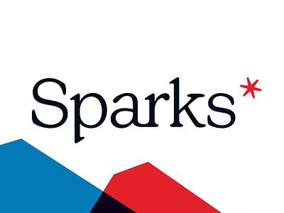 Sparks* logo sparks logotype asterisk startup startup logo podcast branding brand logo