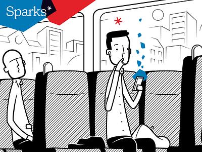Sparks illustrations marketing logo cartoon branding character illustration vector