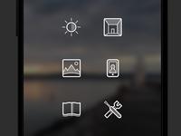 Camera app menu