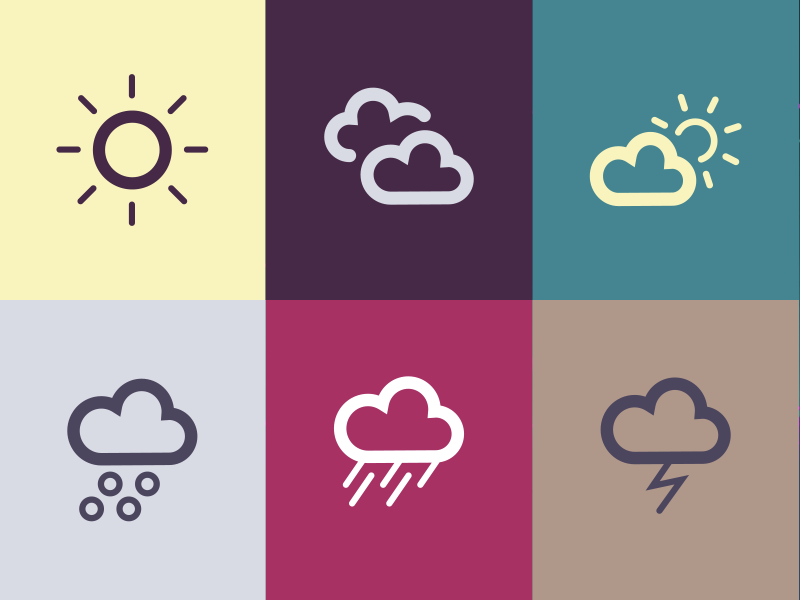 Weather icons vector icons weather