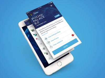 Pitch@Palace entrepreneurs interface mobile app