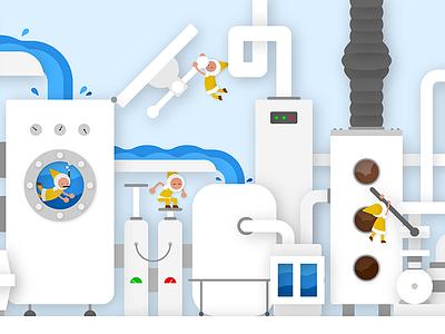 Service Unit character vector illustration
