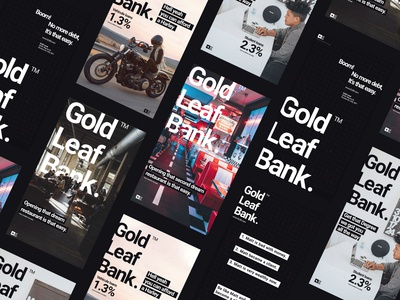Gold Leaf Bank Poster Design