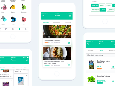 Pantry App Concept ux. ui. app. shopping. grocery. list. food food. pantry.