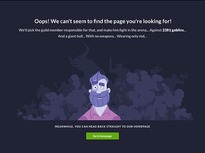 Error Page Switex ux ui webdesign stats empty 404 . page error