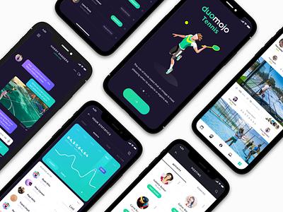 Tennis App ios ux ui tennis mobile . app sport