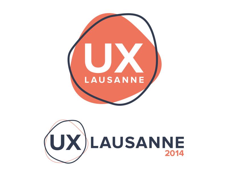 Logo for UX Lausanne logo ux lausanne conference ux