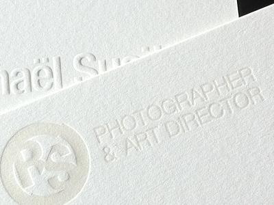 RS letterpress business card letterpress print paper business card raphael susitna