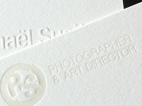 RS letterpress business card