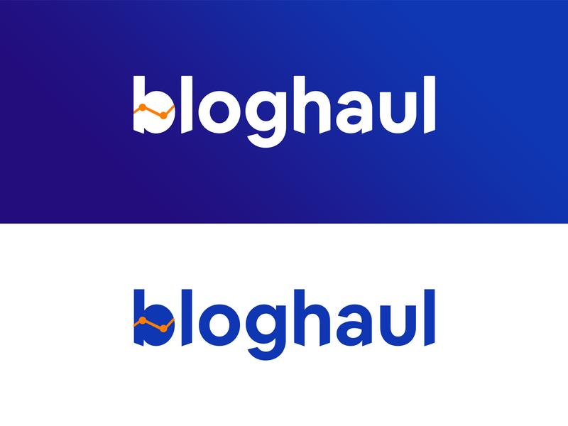 Bloghaul logo - Learn Blogging branding ui logodesignersclub logo designer blog logo design blogger blogging logodesign logo design logo