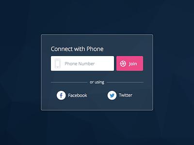 Dribbble Invite phone facebook twitter registration login