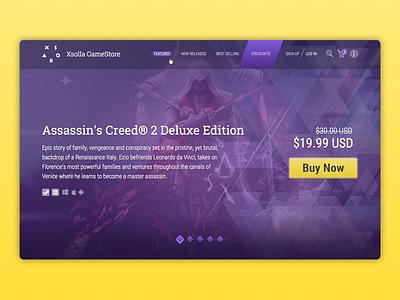 Gamestore price deal xsolla menu cart shop online web landing store game