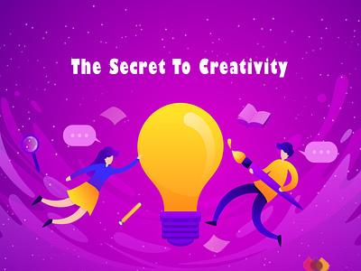 THE SECRET TO CREATIVITY digitalart digital art digital illustration marketing digital design branding animation illustration typography digitalmarketing