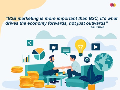 B2B Marketing Strategy digitalart digital illustration design branding typography digital art digital illustration ui marketing animation