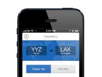 Flight app mockup