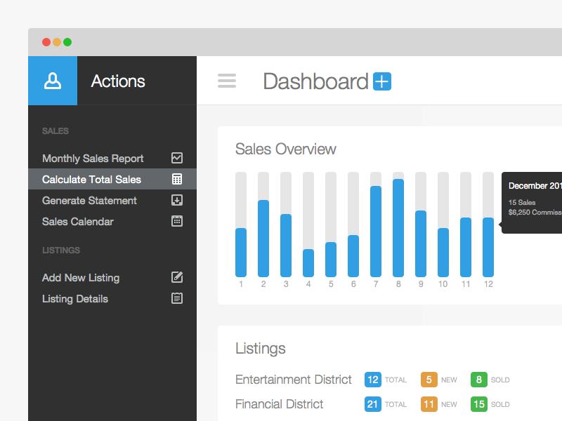 Dashboard Sidebar dashboard sidebar web app ui sales icons blue simple clean