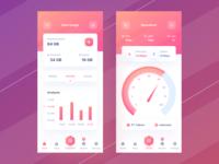 Data Usage App navigation bar navbar speed gradient wifi data graphic chart dashboard mobile ios uiuxdesign app clean uxdesign uidesign ui uiux design