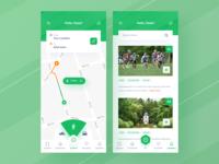 Maps App previews hierarchy dashboard icon feed news navbar map mobile ios uiuxdesign app clean uxdesign uidesign ui uiux design