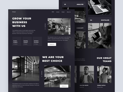 Peteng.io - Landing Page layout branding agency landingpage landing webdesign website web dark icon ux dashboard uiuxdesign app clean uxdesign uidesign ui uiux design