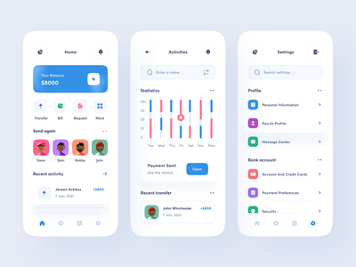 Finance App statistics chart mobile app clean uxdesign uidesign ui uiux design finance app account financial banking fintech invest wallet money bank finance