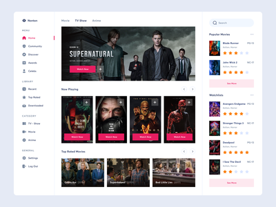 Movie Streaming Dashboard app web dashboard uxdesign uidesign ui uiux design category genre watch tv series platform streaming hbo tv disney amazon movie netflix