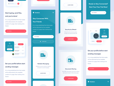 Kedaton - Messaging Platform Mobile Responsive message email webapp ux ui uiux site branding illustration design icon web design website design ios mobile app mobile responsive design responsive landingpage website