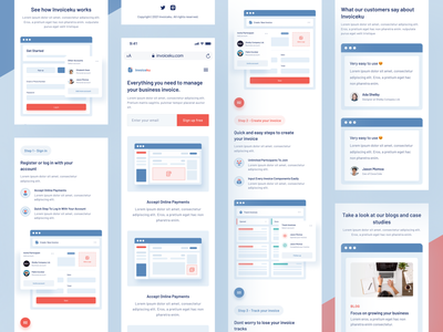 Invoiceku Landing Page Mobile Responsive uiux uxdesign uidesign design app proposal payment platform responsive mobile responsive mobile landing page website website design web design business freelance invoice software saas