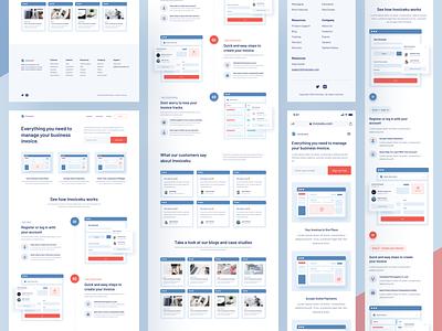 Invoiceku Landing Page Responsive clean uxdesign uidesign app ux design ui design uiux websitedesign design breakpoint mobile desktop responsive web design website web quote proposal paper invoice