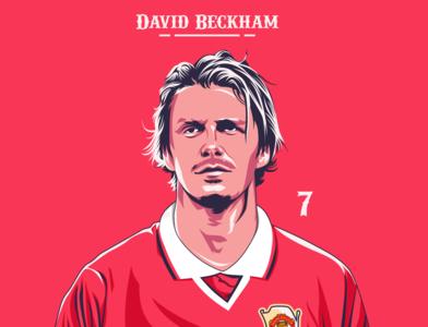 David Beckham graphicdesigner fanart digitalart design legend vector designer art coreldraw inggris england manchester united beckham