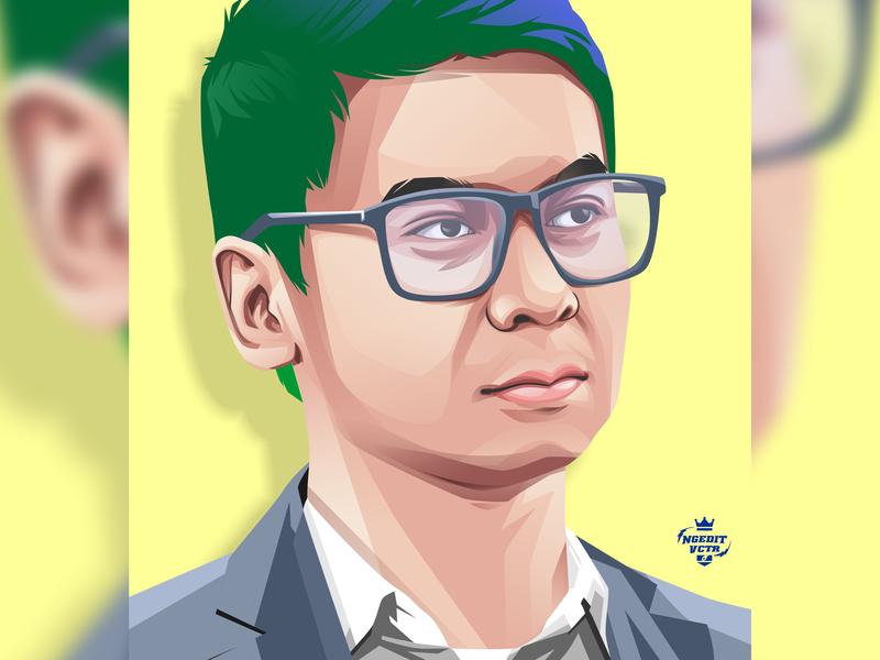 The Art for Raditya Dika, Youtuber Indonesia coreldraw fanart youtuber radityadika artwork art illustration ilustrator designer design art design vector illustration vectorart vector