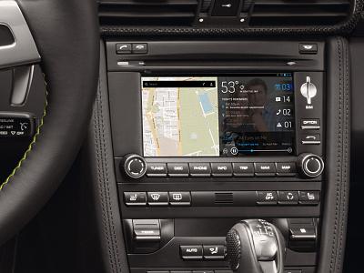 Car in-dash interface automotive interface gps