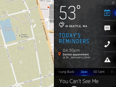 Autodash Map mobile tablet clean dark