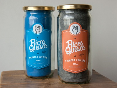 Ricos Quesos T-Shirt packaging jar t-shirt shirt tees rock hand handmade type apparel food vintage
