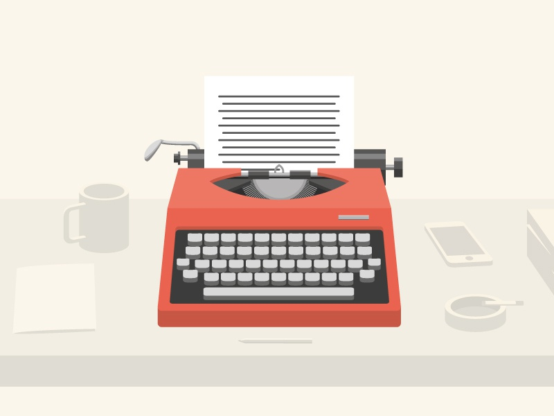 Red Typewriter By Dothaus Dribbble Dribbble